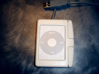 Cirque touchpad with IPod Clickwheel image pasted in